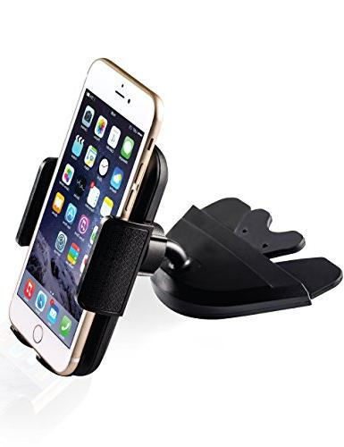 """Bestrix Smartphone Car Mount for 6, 6S 5, 4S, Galaxy S3 S4 S6 Note 2 3 4 5 LG G3 G4 G5 all up to 6"""""""