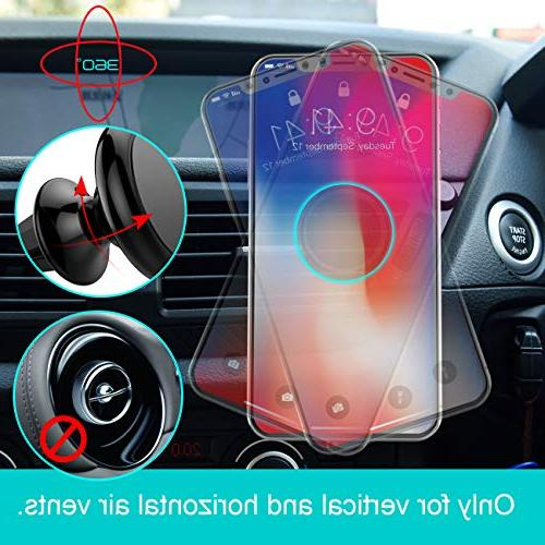 Magnetic Car Lamicall Holder : Universal Compatible with Phone X 7P 6s 6P 5S, S6 Pixel, Smartphones
