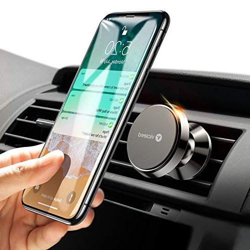 Car Phone Mount, VICSEED Magnet Vent Mount Rotation Phone Holder Car Xs Max XR 8 Plus 7 6, HTC, LG, GPS Devices - Black