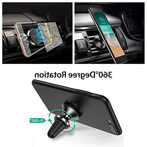 Car Mount, Magnet N52 Mount 360° Phone Cradle Car with Xs Max XR 8 Plus 6, Samsung HTC, - Black