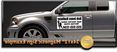 custom magnetic signs car magnets