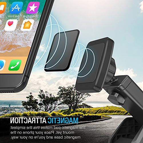Maxboost Dashboard Mount Magnetic for XR iPhone 8 7 6s Plus Galaxy S9 9 XL