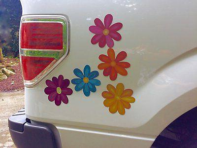 Flower decorative car magnet