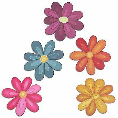 flower power decorative car magnet set
