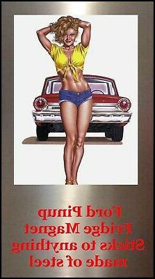 Ford Car GALAXY Pinup Girl 4X6 Photo Fridge Magnet PIC PIX M