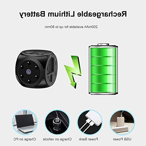 Hidden Spy Camera-1080P HD and Motion Detection,Built-in Indoor for Home,Car,Office