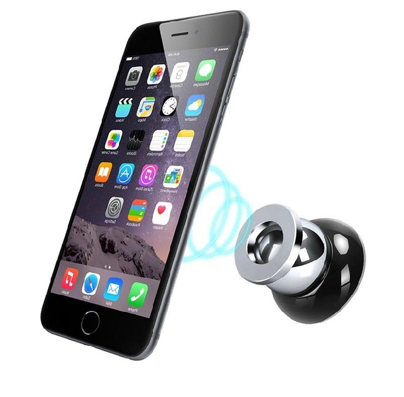 Magnetic Car Cell Phone Holder Dash Rotating iPhone GPS Samsung