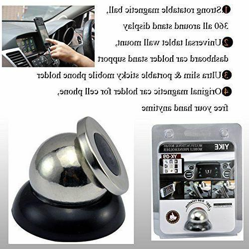 Magnetic Phone Holder Mount Rotating For iPhone Samsung