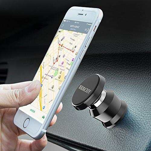Magnetic Cell Phone Holder Car, Mount iPhone Plus/ 7 6 Galaxy S6/ Light Tablets and
