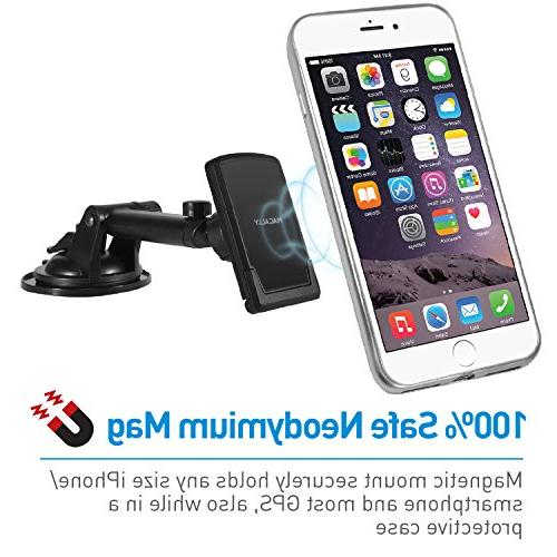 Macally Cup Phone Mount Holder Extendable Arm XS X 8 6s Plus 6 Galaxy S8 S7 Edge