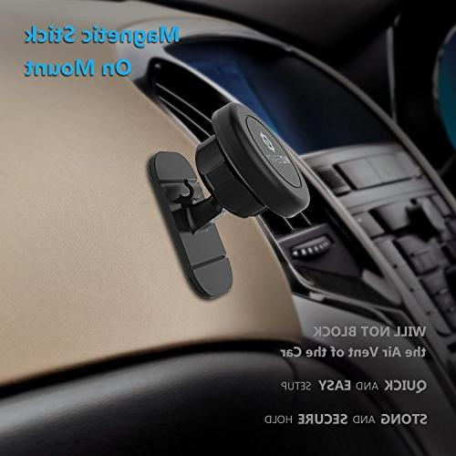 Magnetic Stick Dashboard Car Cell Phones and Tablets Fast Swift-snap Technology, Magnetic Phone Mount