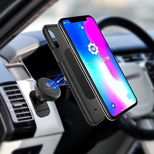 Magnetic WizGear Stick On Car Holder, for Cell and Mini Tablets Technology, Magnetic Cell Phone Mount