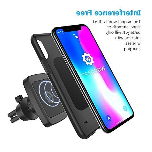 Magnetic Mount, WizGear Bite-Lock Vent Car Mount for Phones with Technology