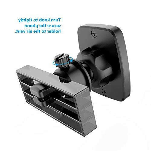 Magnetic WizGear Universal Bite-Lock Vent Magnetic Phone Car Mount for Cell Phones with Swift-snap