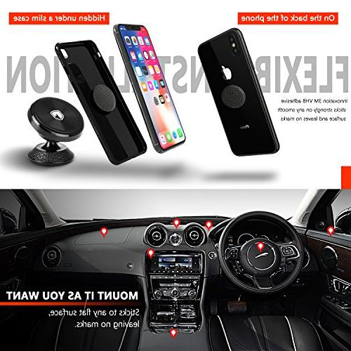 Magnetic Phone Holder for Car FITFORT Universal Phone Compatible Phone X MAX S8 Note 8, Mini