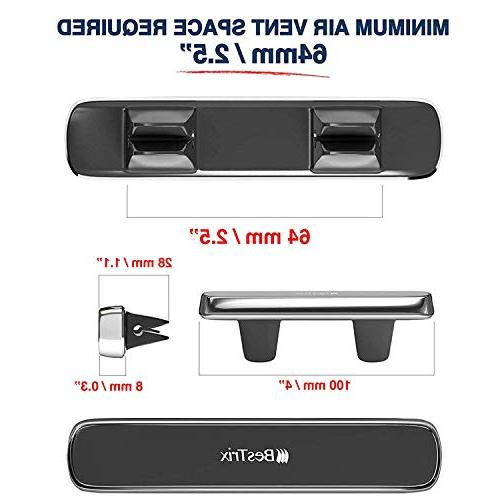 Bestrix Magnetic for Air Vent, Super Strong Magnet, & with All Smartphones & Mini
