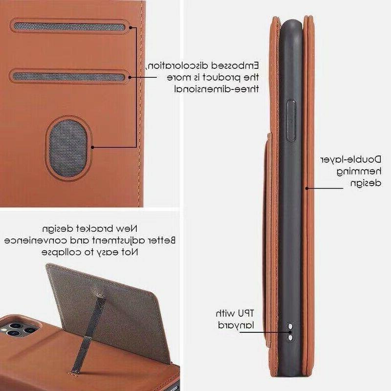 Magnetic Feel Leather Credit card slot