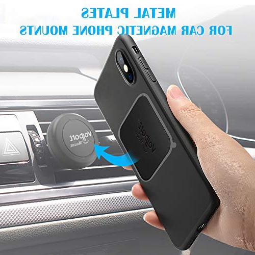 Metal Plate for Phone Magnet, 8 Volport MagicPlate with 3M Replacement for Car Mount Holder & Rectangle and Round