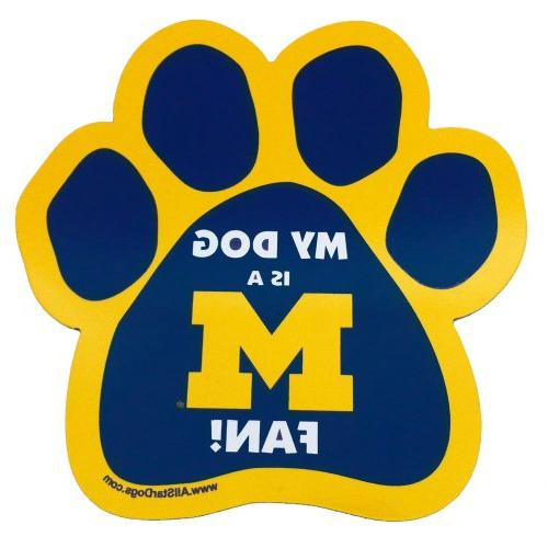 ncaa michigan wolverines paw print