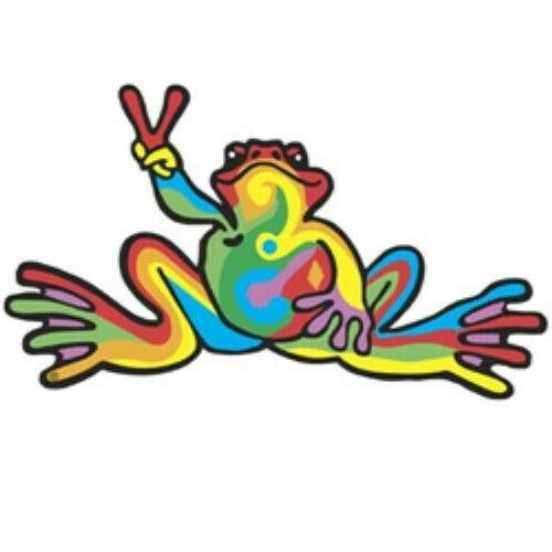 Peace Frogs Retro Car Magnet ~ High Quality Durable Vinyl ~
