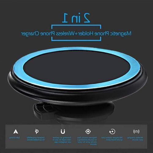 Qi Wireless Car Magnetic Mount Holder Samsung MAX