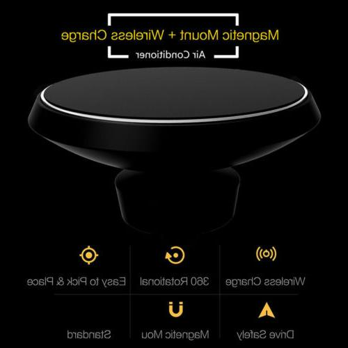 Qi Magnetic Mount Samsung S9 iPhone MAX