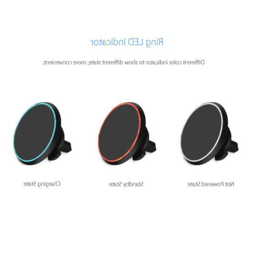 Qi Wireless Magnetic Mount Holder For Samsung MAX