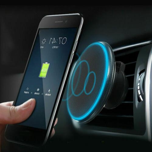 qi wireless car charger magnetic mount holder