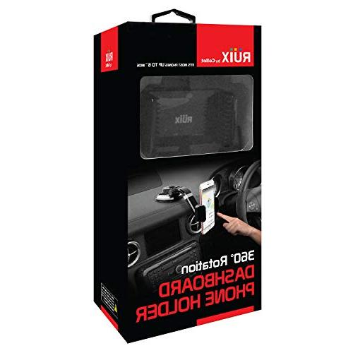 Ruix Car Holder, Suction with Degree Phone Mount, X, 8 Plus, Galaxy S9 Plus,S9, HTC, LG,