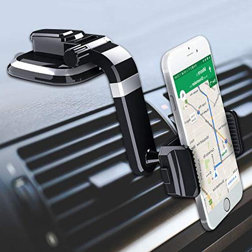 Ruix Dashboard Car Holder, Suction Cup with Degree Rotation Car Mount, Compatible X, 8 Galaxy LG, and More