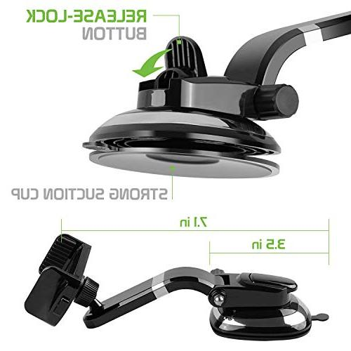 Ruix Dashboard Cell Phone Car Suction with Degree Car Phone Mount, for X, 8 Plus, Samsung Galaxy S9 Plus,S9, LG,