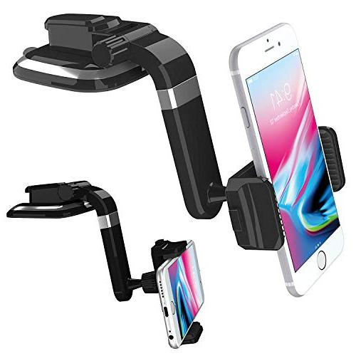 Ruix Dashboard Cell Car Mount Suction Degree Car Mount, iPhone X, 8 Galaxy S9 HTC, LG, and More