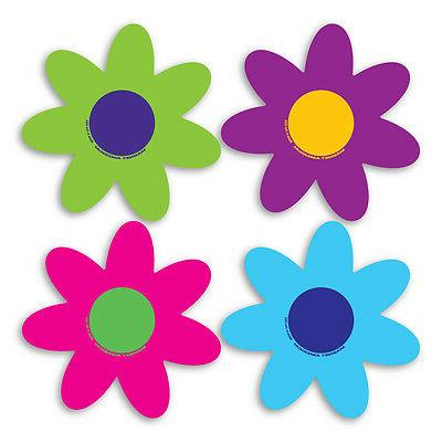 set of 4 bright flower pack magnets