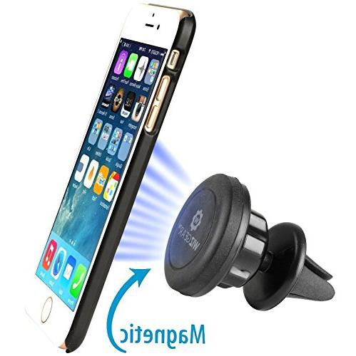 WizGear Universal Magnetic Car Mount Holder Mini Tablets with Swift-Snap Magnetic Phone Mount Head