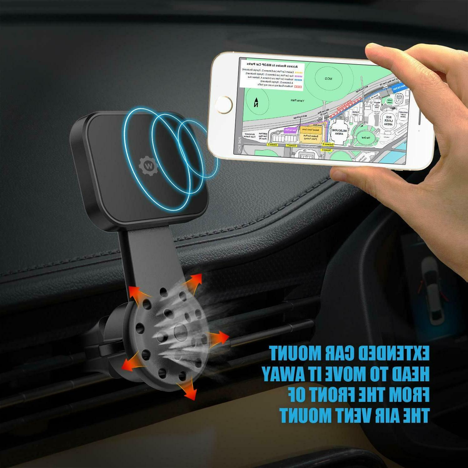 WizGear Universal Air Vent Magnetic Holder Car Air