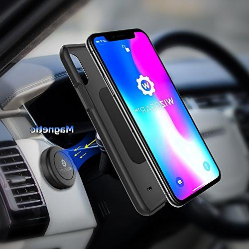 WizGear On Dashboard Magnetic Mount for Phones and Tablets with Fast - Extra
