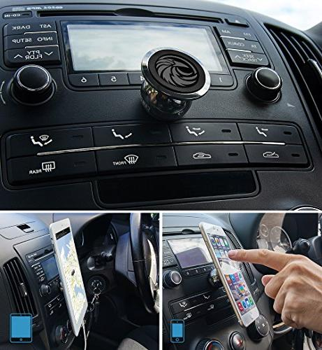 Universal Magnetic Car Mount GPS or Light | One Hand Sec +100 to Safeness &