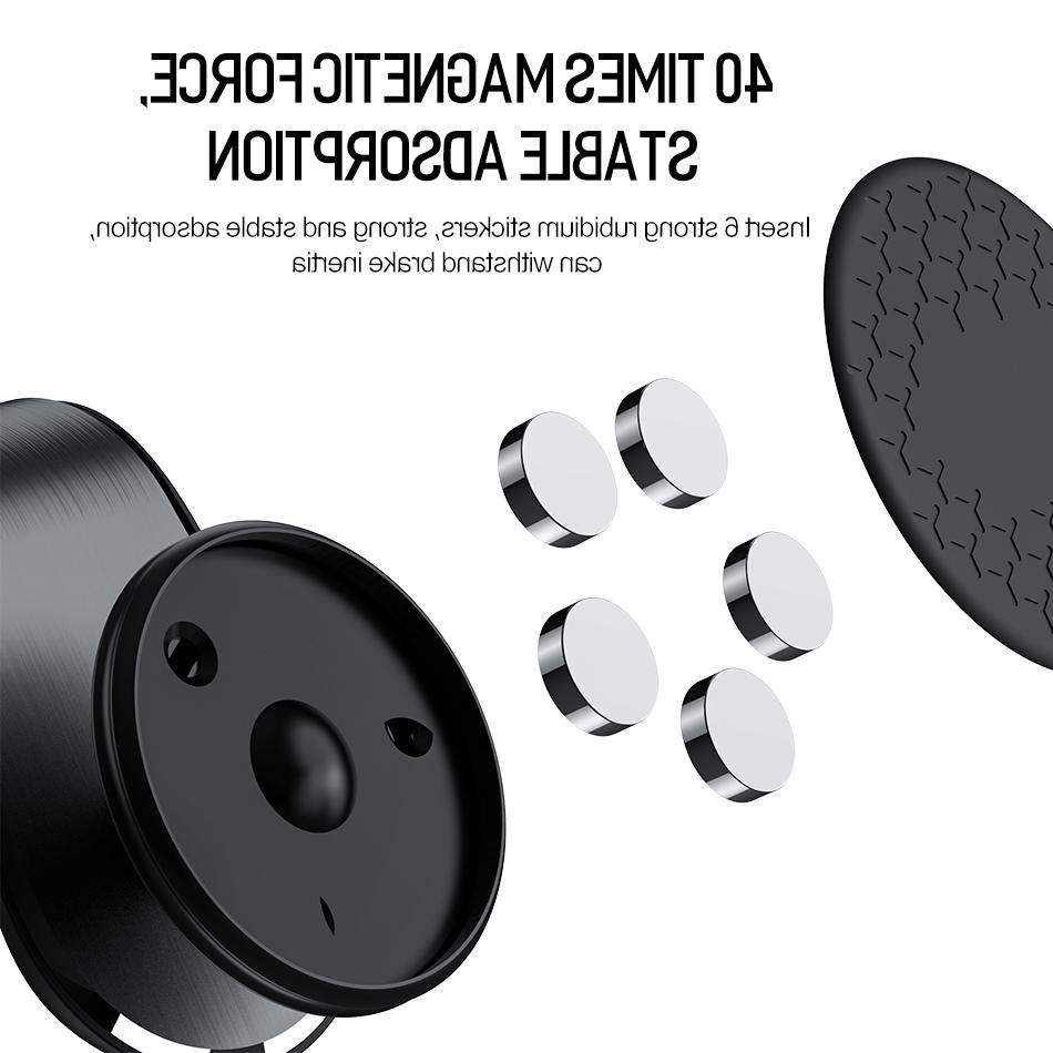 GTWIN Upgrade Magnetic in <font><b>Car</b></font> Air Mount Clip 360 Degree <font><b>Magnet</b></font> For 11