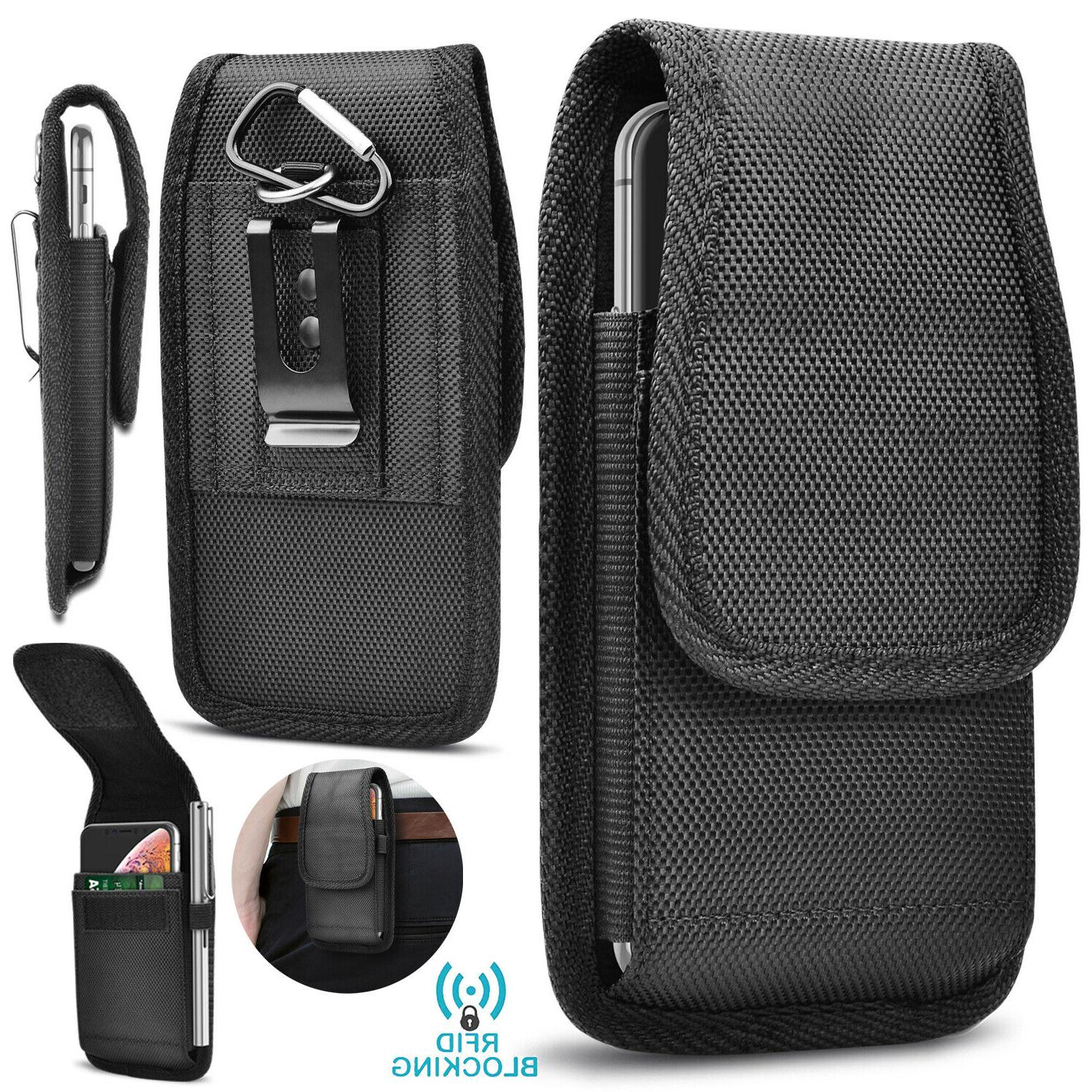 vertical oxford phone holster pouch case