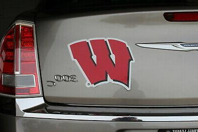 Wisconsin  Car  Magnet   Made  In  USA College  Football Spo