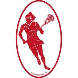 Girls Lacrosse Car Magnet | Girls Lax Player Silhouette | Re