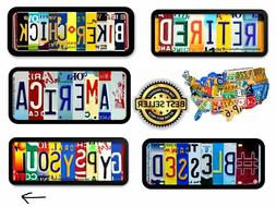License Plate Letter Art Decals, Decals, Bumper Stickers or