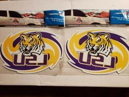 "LOT OF 2 LSU TIGERS  MAGNETS 8""× 5.25"" IN CONCEPT NCAA CAR"