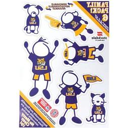 "LSU Tigers NCAA Family Decals Auto Car 5"" x 7"" Small 6 Piece"