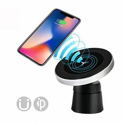 Luxury Magnetic Wireless Car Charger Mount, Qi Standard Mobi