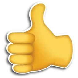 Magnet Me Up Thumbs Up Emoji Magnet Decal Perfect for Car Tr
