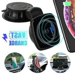 Magnet Qi Wireless QC3.0 Car Fast Charger Phone Holder Mount