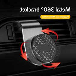 Magnetic Car Phone Holder 360° Rotation Clip Air Vent Mount