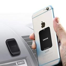 WUTEKU Magnetic Cell Phone Holder Kit for Car | Works on All