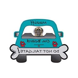 Mastiff Dog On Board - Do Not Tailgate Car Magnet